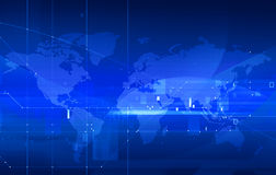 Punktierte Weltkarte Lizenzfreies Stockbild
