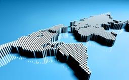 Punktierte Weltkarte Stockfoto