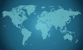 Punktierte Weltkarteillustration Stockfotos