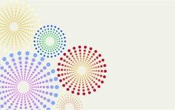 Punktierter Blumenhintergrund vektor abbildung