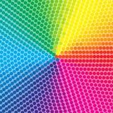 Punktierter bunter Hintergrund vektor abbildung