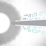 Punktierter bunter Kreis, abstrakter Hintergrund stock abbildung