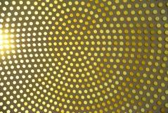Punktierter Hintergrund der bunten Kreise, gelbes geometrisches Pastellmuster Stockfotos