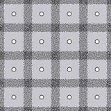 Punktierter karierter Hintergrund in der modernen Art Abstrakte Streifen und nahtloses Muster des Tupfenvektors Schottenstoffbesc lizenzfreie abbildung