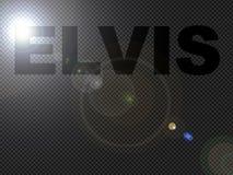 Punktierter Leuchten Elvis Zeichen-Text lizenzfreie abbildung