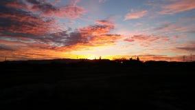 Punktierter Sonnenaufgang stockfoto