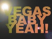 Punktiertes LED-Litvegas-Schätzchen Yeah! Zeichen-Glühen Stockfotos