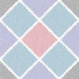 Punktiertes nahtloses Muster des Quadratvektors Zusammenfassung punktiert Zellbeschaffenheit für Oberflächendesigne, Gewebe, Pack vektor abbildung