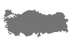 Punktkarte der türkischen Republik Lizenzfreies Stockfoto