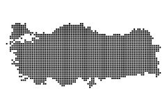 Punktkarte der türkischen Republik Lizenzfreie Stockfotografie