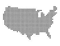 Punktkarte von USA stock abbildung