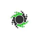 Punktkreis-Vektorlogo stock abbildung