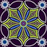 Punktmalerei trifft Mandalen 8 Eingeborene Art der Punktmalerei Lizenzfreie Stockfotografie