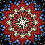 Punktmalerei trifft Mandalen 8 Eingeborene Art der Punktmalerei Stockfoto