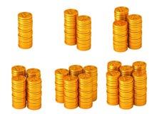 Punktmünzen Stockbild