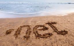 Punktnetz auf dem Sand 2 Lizenzfreie Stockfotos