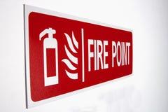 Punkttecken för röd brand Arkivbilder