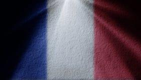 Punktu światło z francuz flagą obraz stock