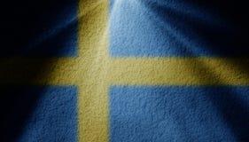 Punktu światło z szwedzi flagą ilustracja wektor