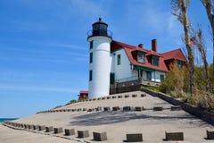 Punktu Betsie latarnia morska od Jeziornego widoku Zdjęcia Royalty Free