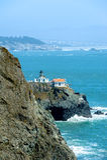 Punktu Bonita Latarnia morska w Kalifornia, USA Obraz Stock