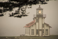 Punktu Cabrillo Lekki dom Mendocino, Kalifornia Zdjęcia Stock