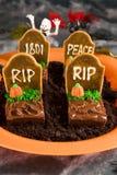 punktu Halloween nagrobek Zdjęcia Royalty Free
