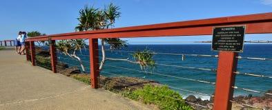 Punktu niebezpieczeństwa punkt obserwacyjny - tweed Przewodzi Queensland Australia zdjęcie stock