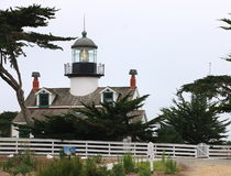 Punktu Pinos latarnia morska, Pacyficzny gaj, CA Obrazy Royalty Free
