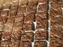 Punktu tort mieszający z czekoladą fotografia stock