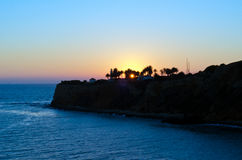 Punktu Vincente latarnia morska przy nocą Zdjęcie Stock
