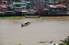 Punktu widzenia Chao Phraya rzeka od Rozwala Wata Arun ratchawararam Obraz Stock