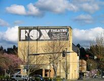 Punktu zwrotnego Centralia Fox Theatre, buduje Å›ciana szyldowego widok zdjęcie stock