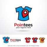 Punktutslagsplatser som beklär Logo Template Design Vector Royaltyfri Foto