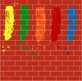 Punkty varicoloured farba Zdjęcia Royalty Free