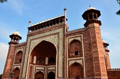 Punkty zwrotni India - brama Taj Mahal obraz stock