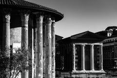 Punkty zwrotni w Rzym, Włochy czarny white Obraz Stock