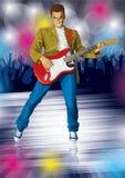 Punky con la guitarra stock de ilustración