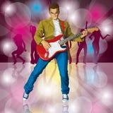 Punky con la guitarra libre illustration