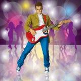 Punky con la guitarra Imagen de archivo