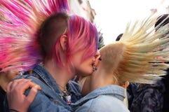 Punky de la moda del pelo Imágenes de archivo libres de regalías
