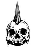 Punky del cráneo ilustración del vector