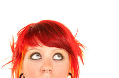 Punky Girl with Red Hair Royalty Free Stock Photos