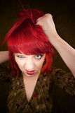 Punky Girl with Red Hair Stock Images
