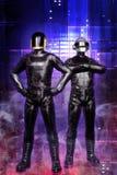 Punky tonto de los individuos del Cyberpunk ilustración del vector