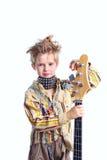 Punky y guitarra Foto de archivo libre de regalías