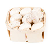 Punnet свежих культивируемых грибов стоковое фото rf