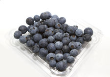 Punnet Blueberries Stock Photos