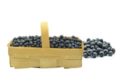 Punnet with blueberries Royalty Free Stock Image