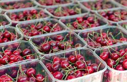 Punnet of cherries Stock Photography